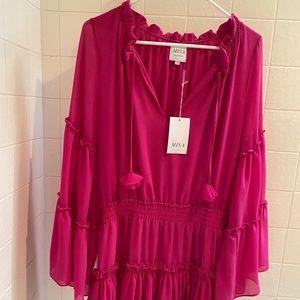 Misa Los Angeles Dresses - MISA Los Angeles hot pink long sleeve mini dress S